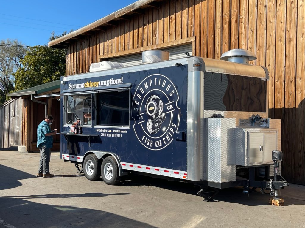 Photo of the Scrumptious Fish & Chips trailer